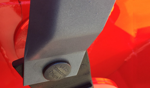 Trimax mower hinge