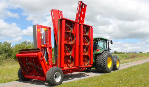 Road Transport Lawn Mower Red
