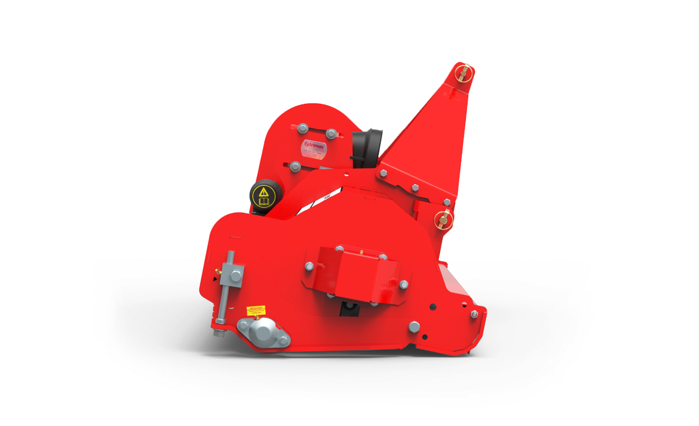 Ezeemow FX Mower Side View Red