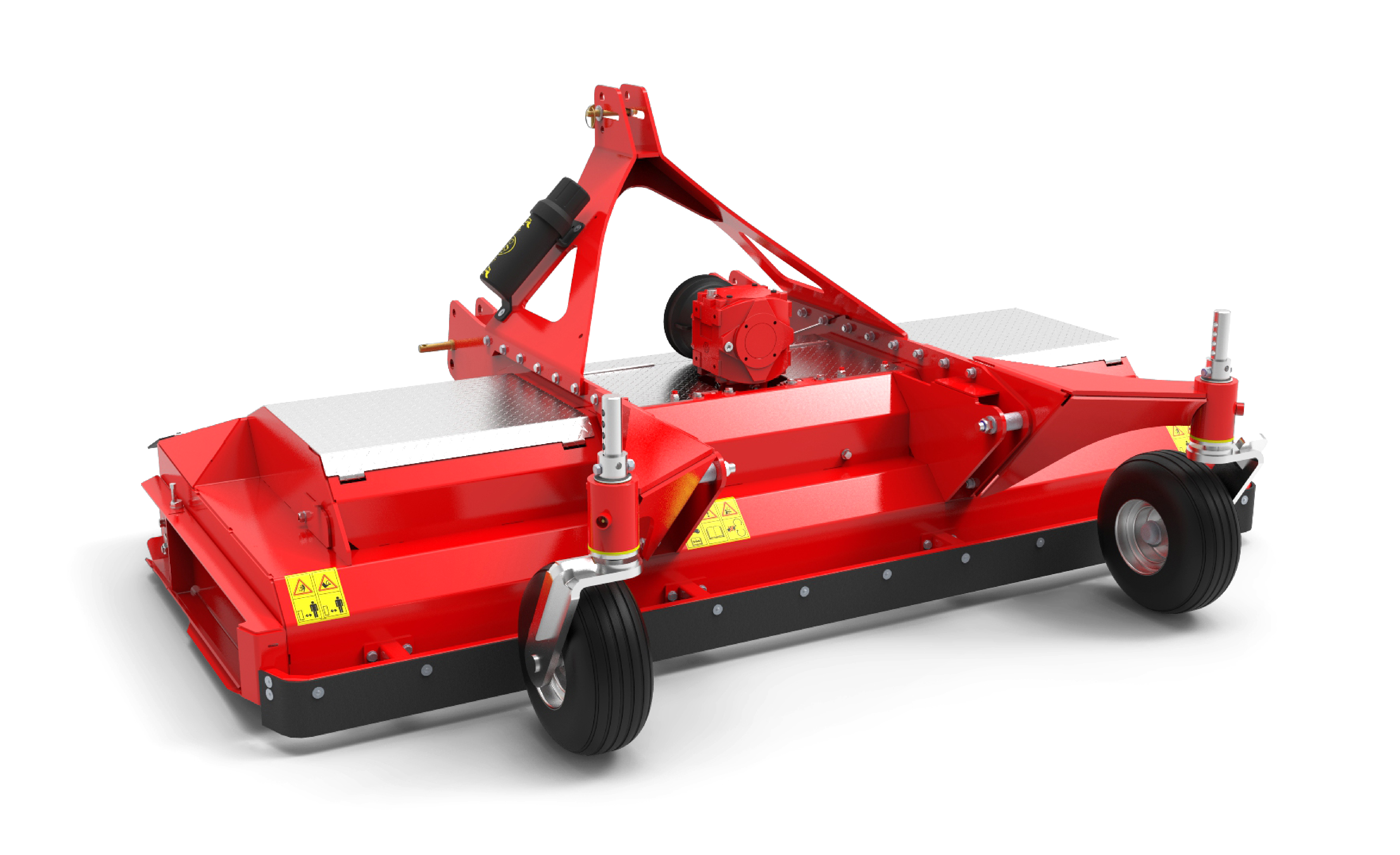 ProCut-FM Mower Rear View Red