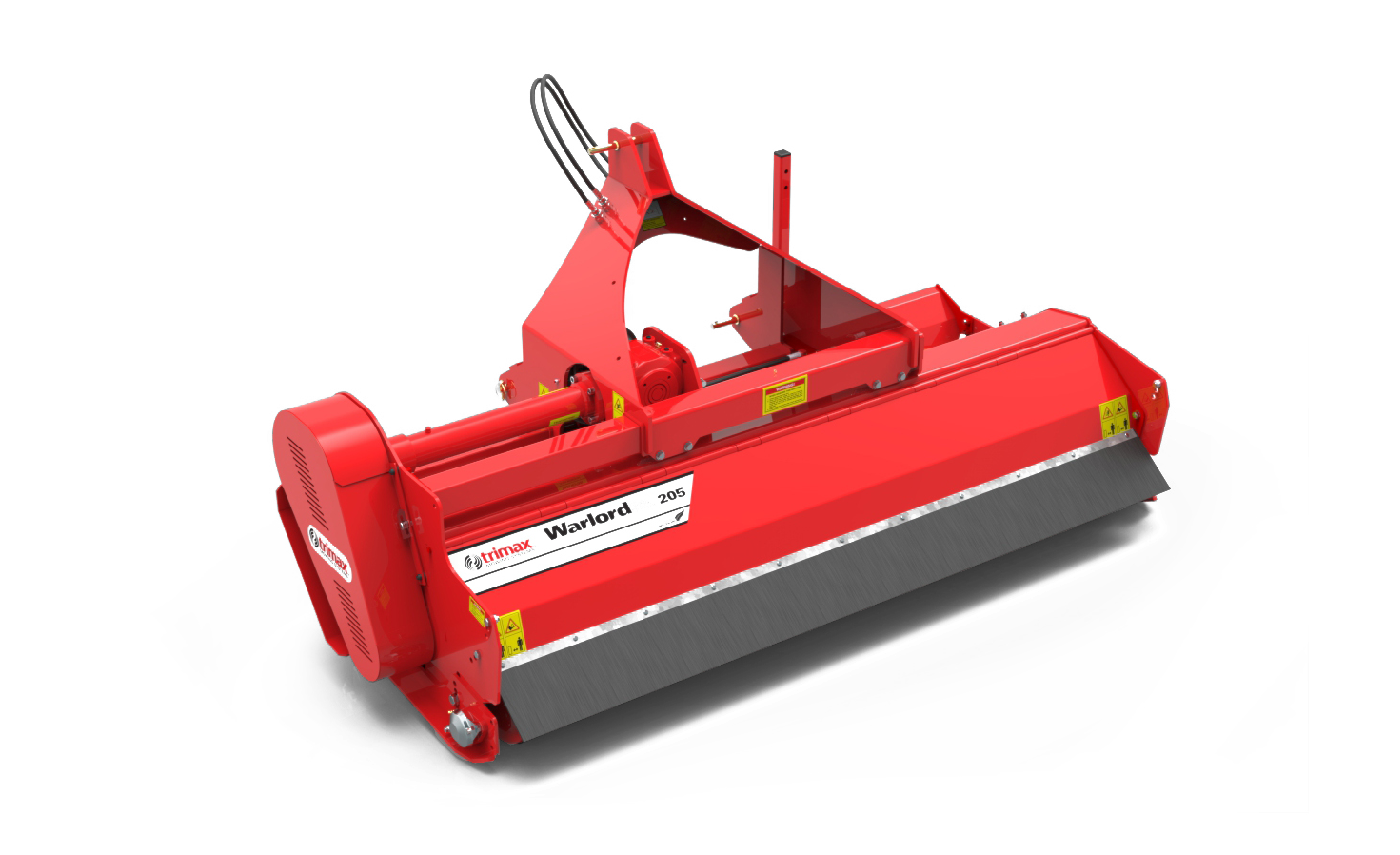 Warlord S3 205 mower front view red