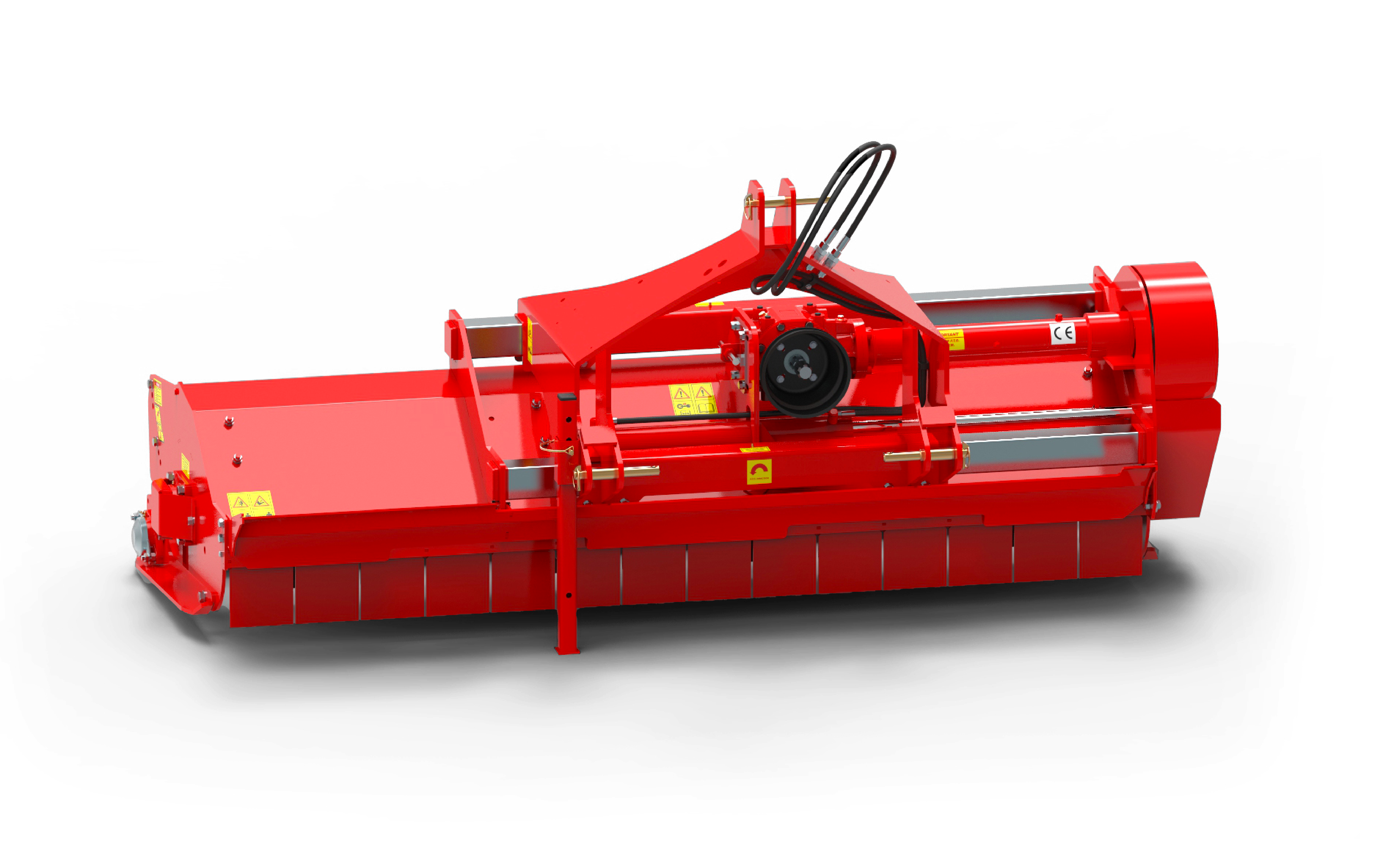 Warlord S3 mower rear red
